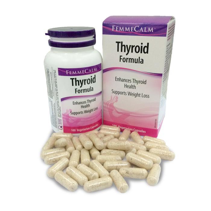 Nhân sâm Ấn Độ giúp chữa dứt tận gốc bệnh bướu cổ Viên nang FemmeCalm Thyroid Formula Chai/100