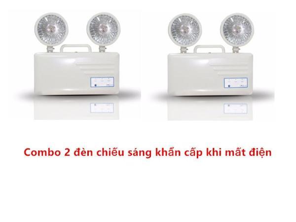 Bộ 2 đèn chiếu sáng khẩn cấp khi mất điện