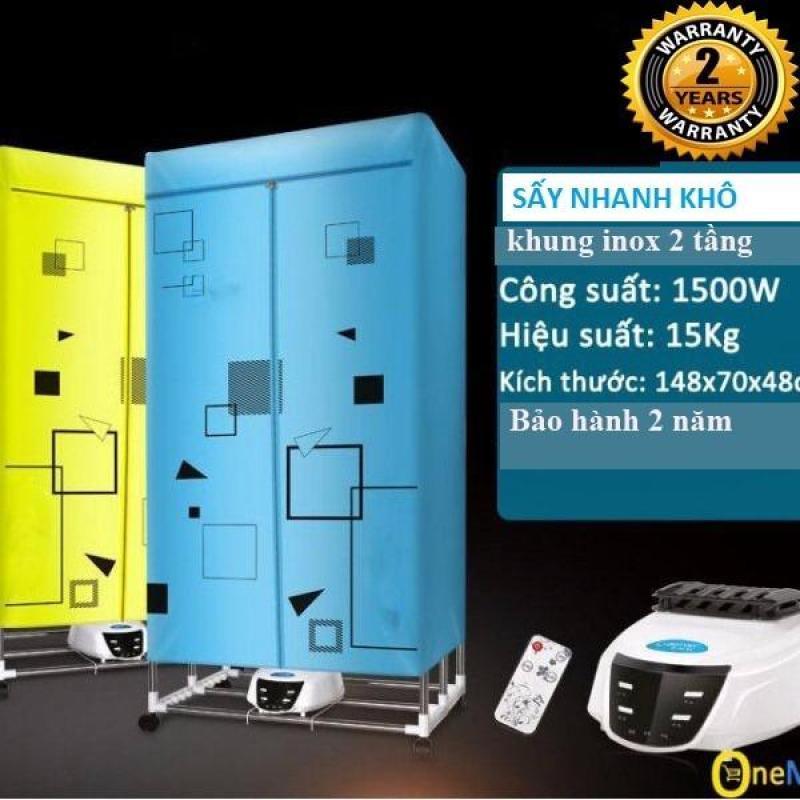 Tủ sấy quần áo Panasonic 2 tầng sấy 15kg quần áo nhanh khô mã HD882F(xanh)