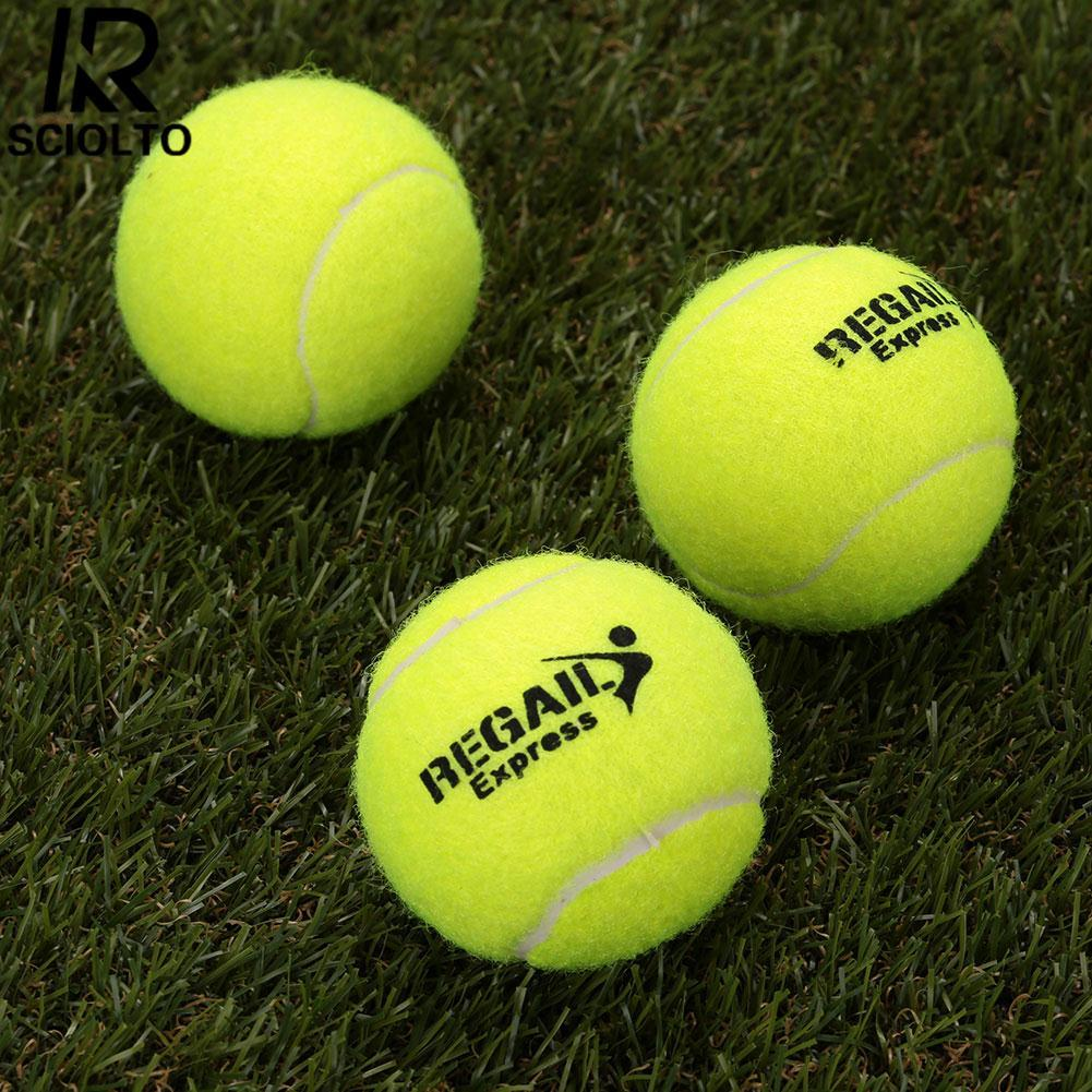 Hình ảnh (Free Shipping)SCIOLTO SPORTS Sports Vanilla Green 1Pc Tennis Balls Rubber Woolen For Training Competition - intl