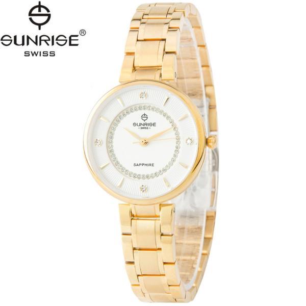 Đồng hồ nữ dây kim loại mặt kính sapphire chống xước Sunrise SL2128LK