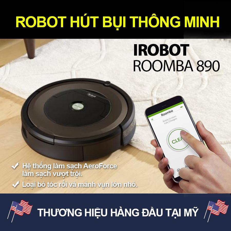 Hình ảnh Robot Hút Bụi Thông Minh/Máy Hút Bụi Thông Minh/Máy Quét Nhà/ Robot Quét Nhà iRobot Roomba 890