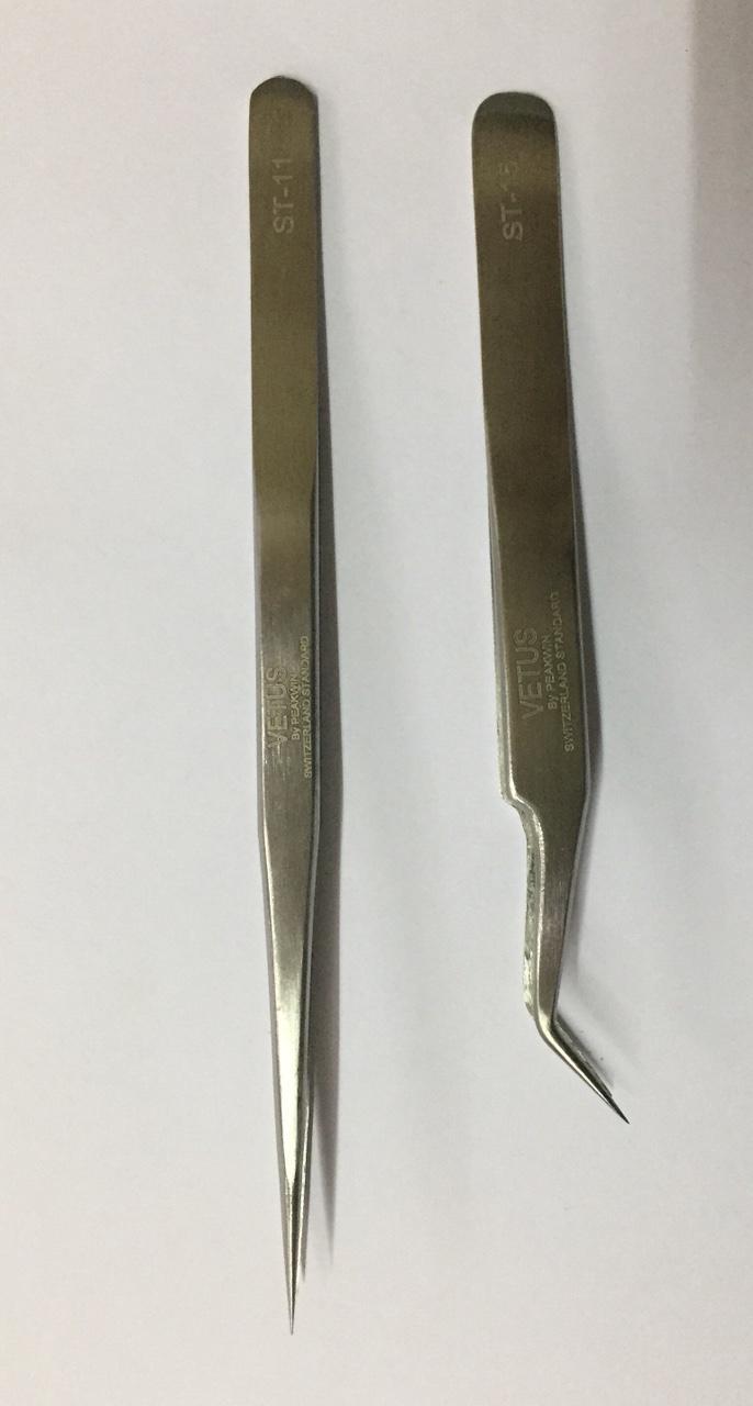 Nhíp nhặt lông yến chân thẳng-cong bằng inox không gỉ 2 cái-PP Sâm Yến Thái An