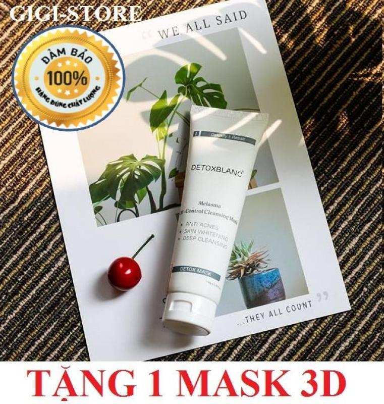 Mặt nạ sủi bọt thải độc trắng da Detox BlanC Mask 150ml + Tặng 1 mặt nạ 3D Foodaholic