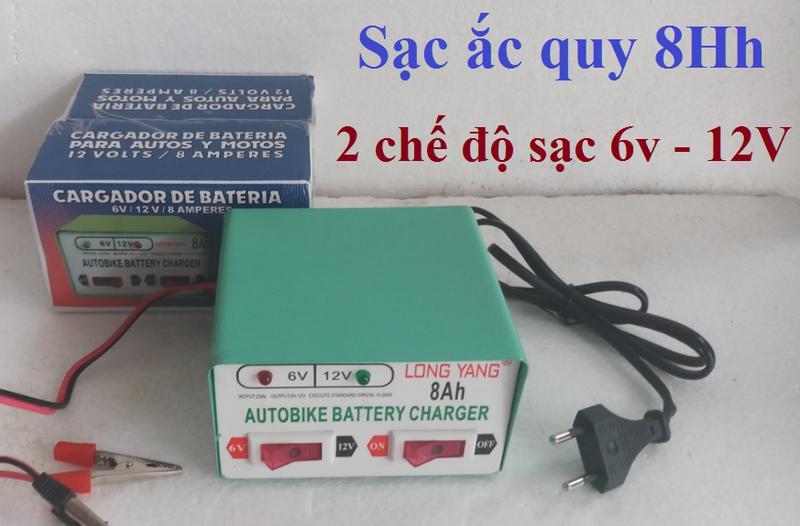 Bộ sạc bình ắc quy thông minh 2 chế độ 6V và 12V - 8A