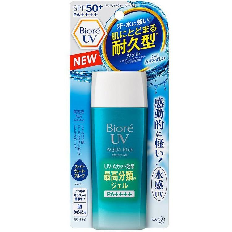 Kem chống nắng Biore UV Aqua Rich Watery Gel SPF50+/PA++++ 90ml chính hãng