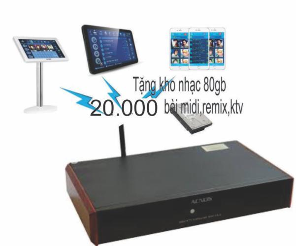 Chiết Khấu Đầu Karaoke Acnos Wifi Km3 Tặng Hdd 80G Acnos
