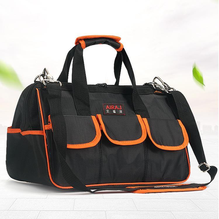 Hình ảnh Túi đựng dụng cụ sửa chữa AIRAJ Y15 siêu bền chống thấm -Loại 15 inch (đen phối cam)
