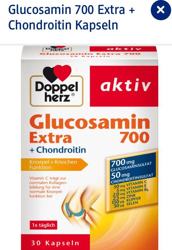 Viên uống bổ xương khớp Glucosamin Extra 700 Doppelherz nhập khẩu