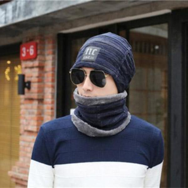 Mũ len nam thời trang P L A Y B O Y phong cách châu Âu, chùm tai chống rét cực tốt