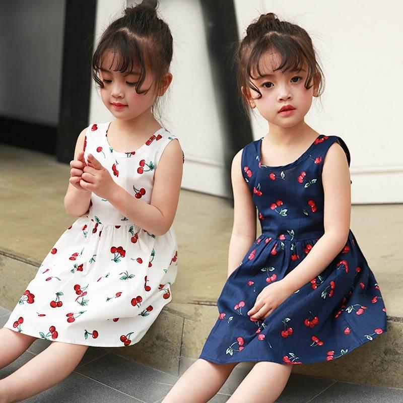 Váy họa tiết quả cherry cực yêu dành cho công chúa nhỏ Nhật Bản