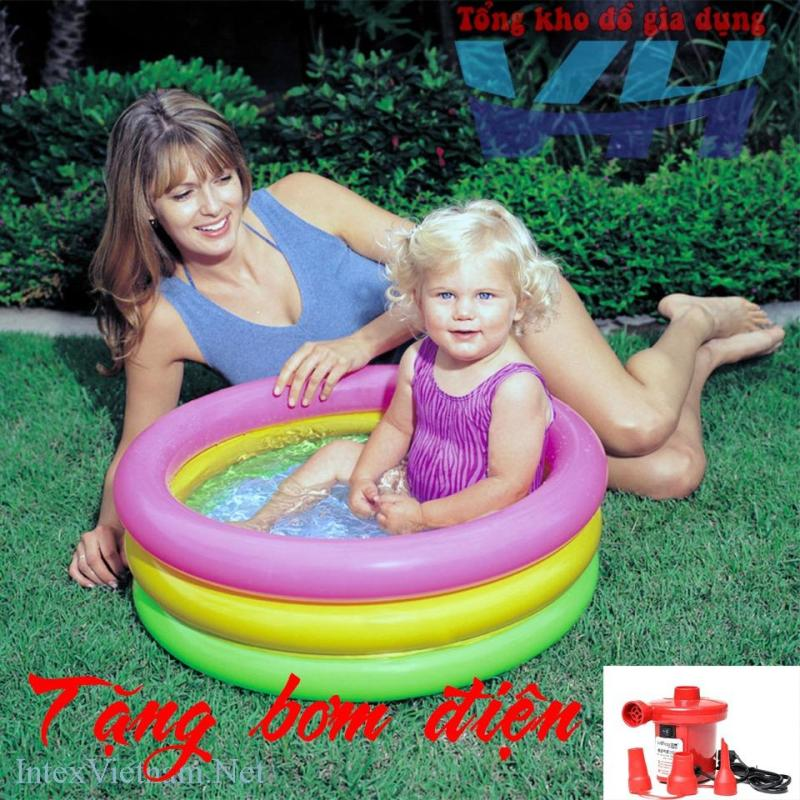 Bể bơi mini Việt Hiếu Intex 57402 + Bơm điện