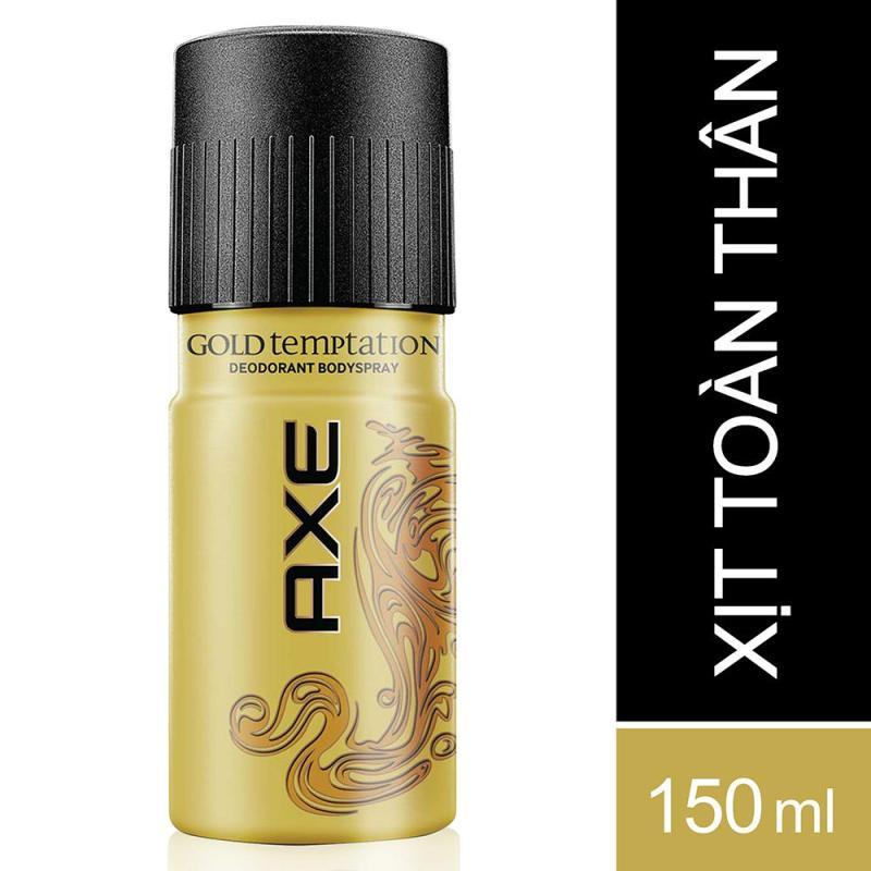 Xịt nước hoa toàn thân AXE Gold Temptation 150ml tốt nhất