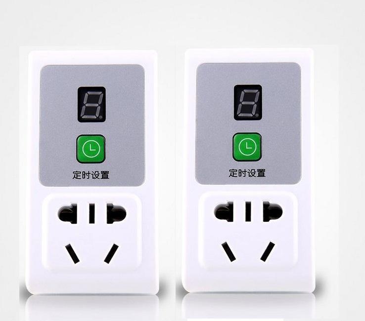 Bộ 2 ổ cắm điện thông minh hẹn giờ điện tử AL-08 (10A-220V)
