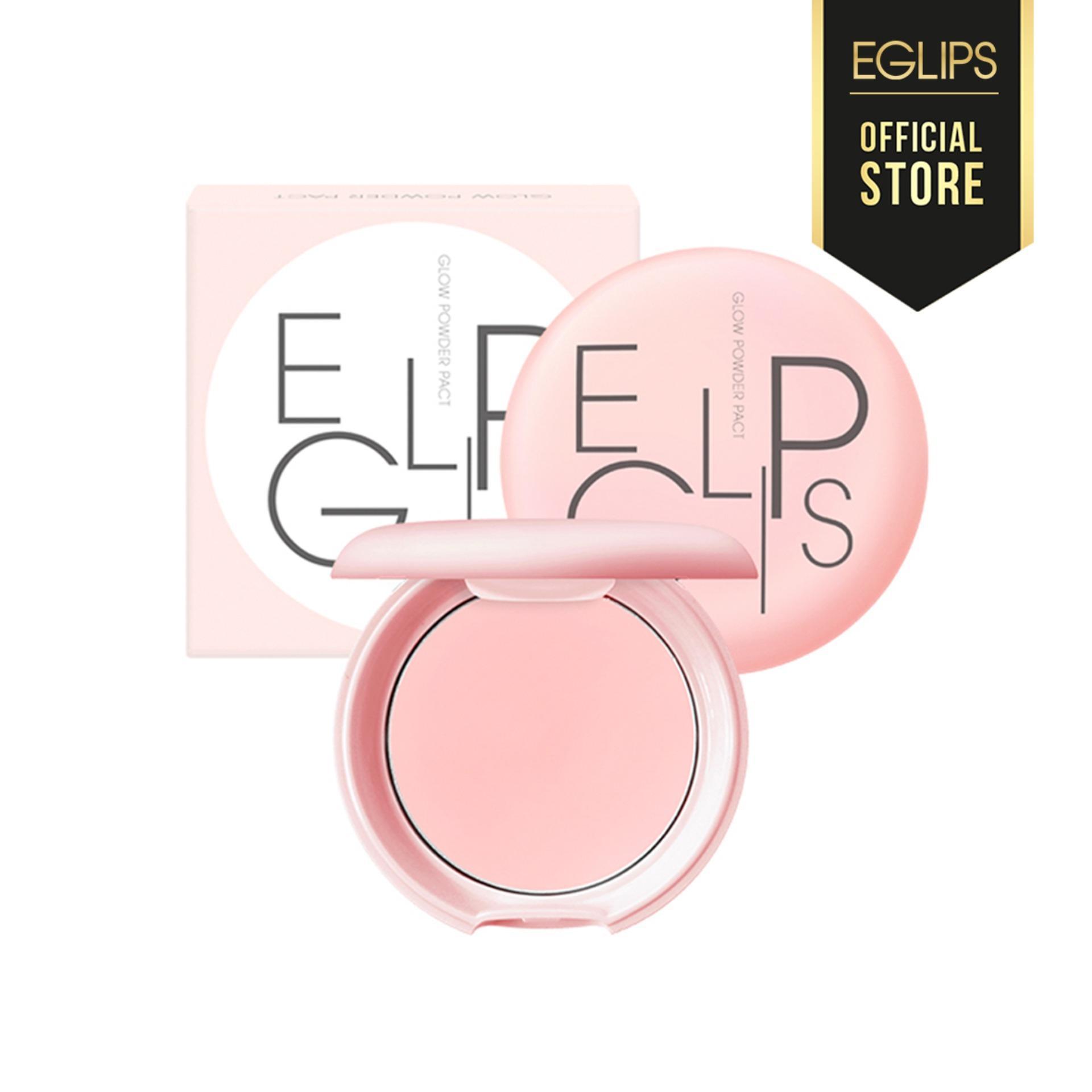 Phấn phủ siêu mịn, bắt sáng hồng ánh ngọc trai Eglips Glow Powder Pact