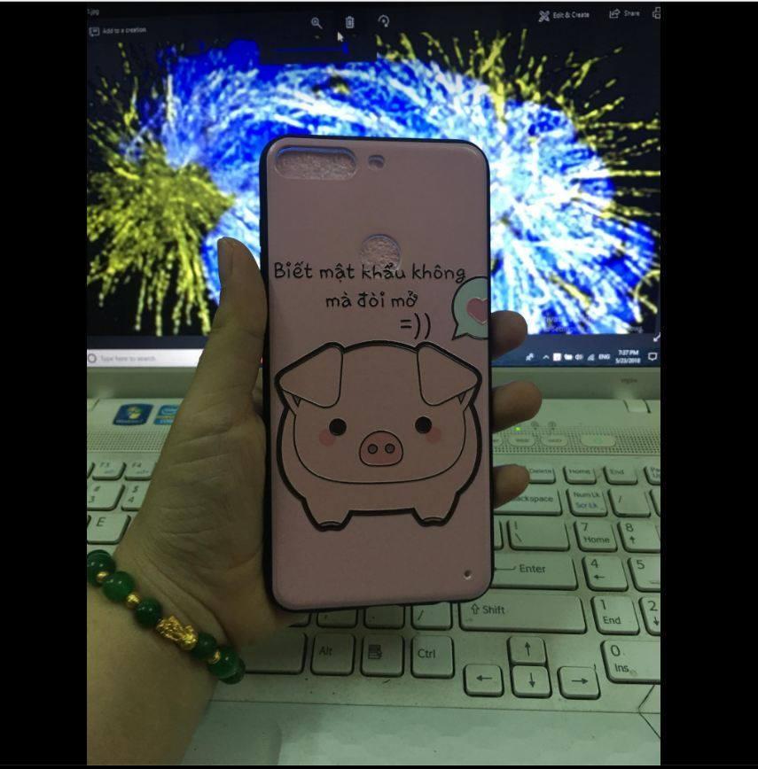 Hình ảnh Ốp lưng thời trang in hình cho Huawei Y7 Pro Tặng dây đeo điện thoại
