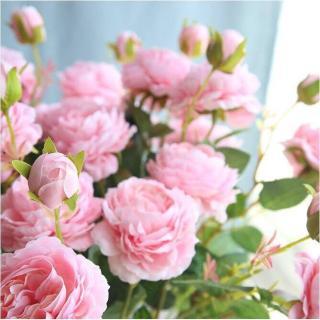 Hoa hồng lụa quý tộc Island cành 3 bông to đẹp- Hoa giả cao cấp-Hoa lụa sang trọng- Hoa hồng giả thumbnail