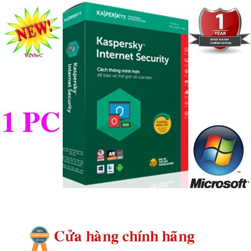 Hình ảnh Phần mềm diệt virus Kaspersky Internet Security 1PC/năm