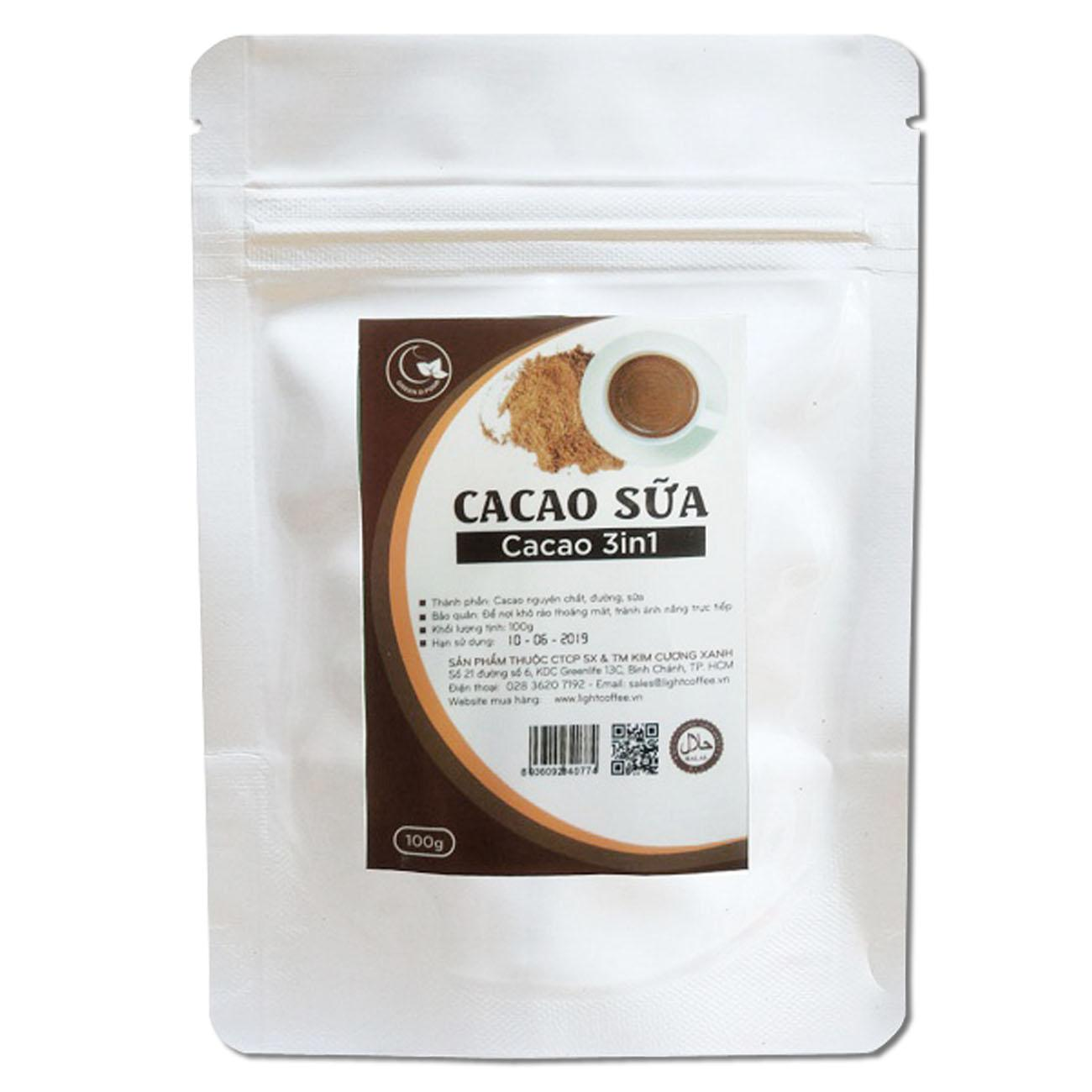 Hình ảnh Cacao 3in1 nguyên chất 100% - Light Cacao - 100gr