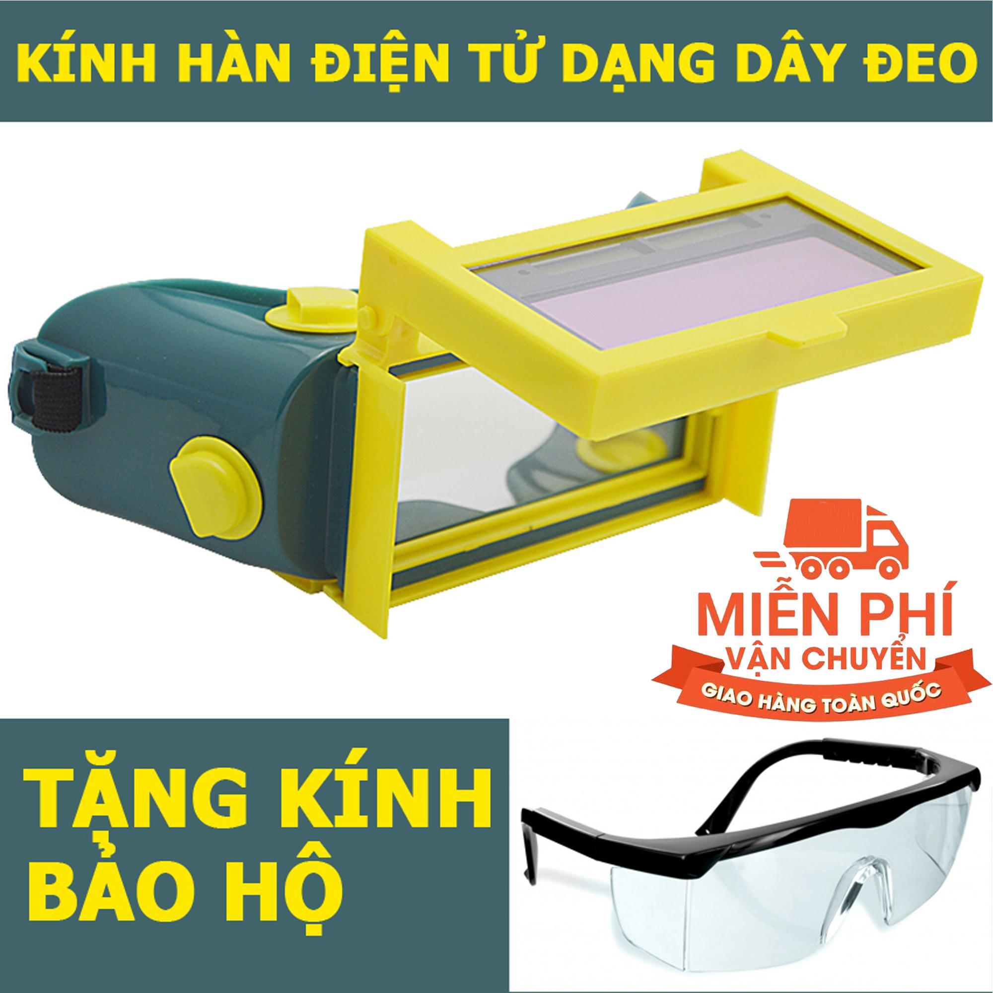 Kính hàn điện tử tự động cảm biến ánh sáng KH02 + Tặng kính bảo hộ