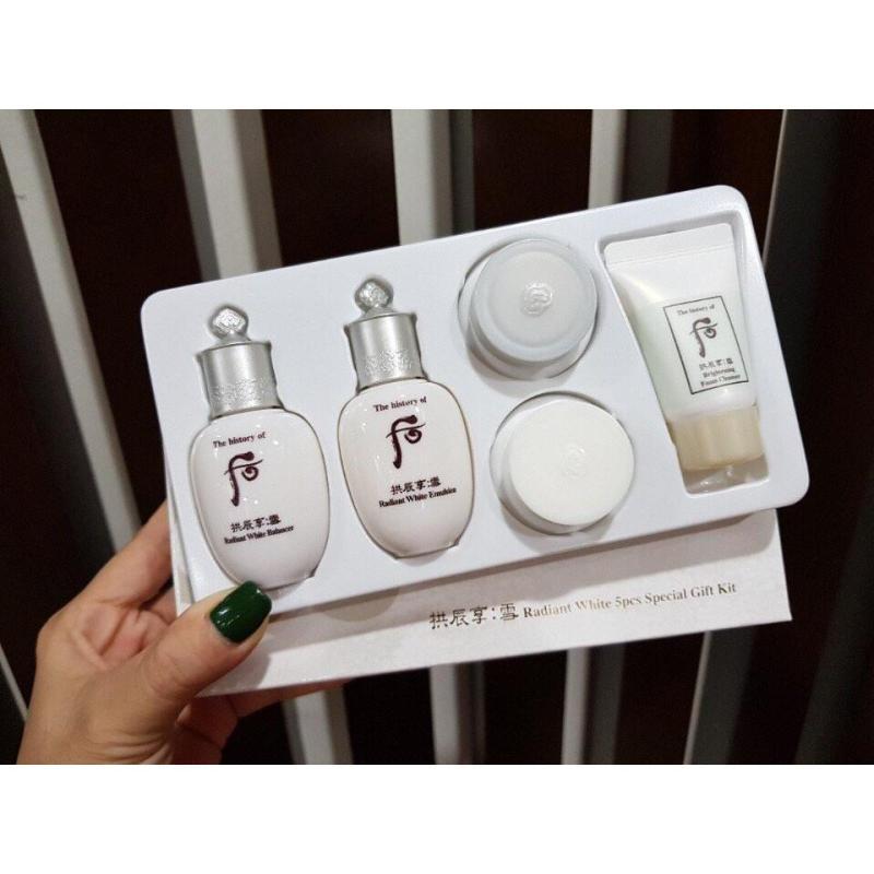 Set Dưỡng Trắng Da Và Trị Nám 5 Món - Whoo Seol Radiant White Special Gift Set (HÀNG CÔNG TY)