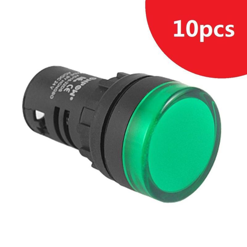 Bảng giá 10pcs/lot 24V  20mm Panel Mount LED Power Indicator Pilot Signal Light Lamp