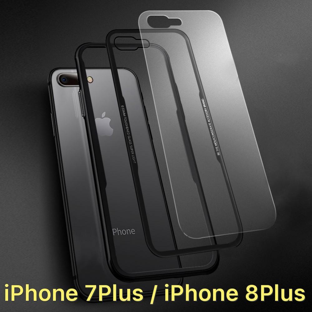 Mã Khuyến Mại Ốp Lưng Cafele Nắp Kinh Trong Suốt Khong Ố Viền Mau Cho Iphone 7 Plus Iphone 8 Plus Oem