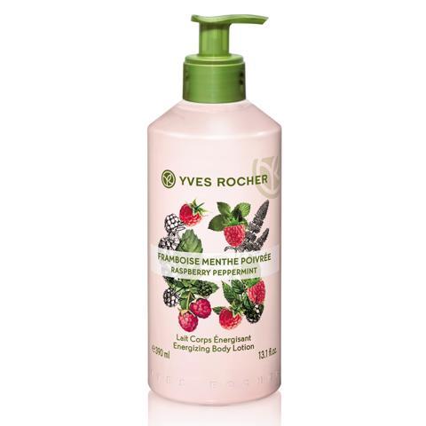 Sữa Dưỡng Thể Yves Rocher Raspberry Peppermint Energizing Body Lotion 390ml