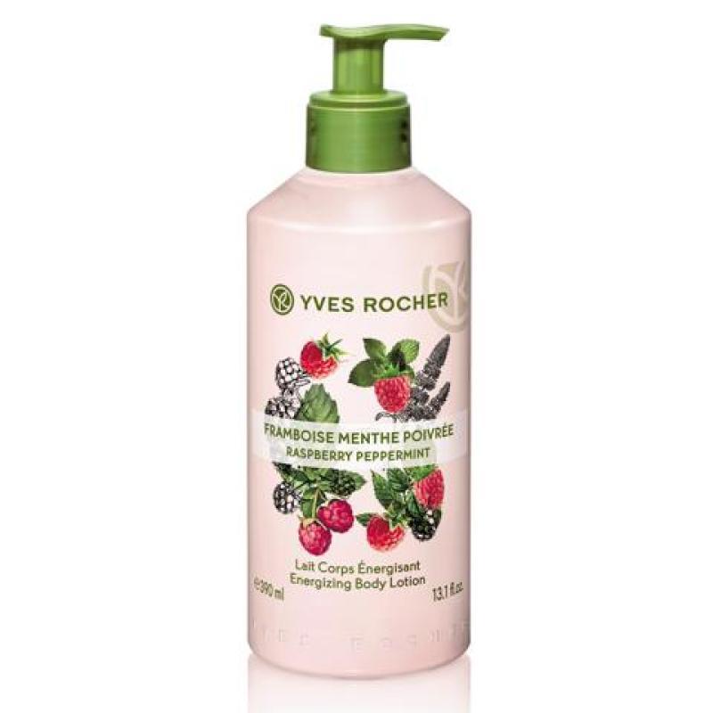 Sữa Dưỡng Thể Yves Rocher Raspberry Peppermint Energizing Body Lotion 390ml nhập khẩu