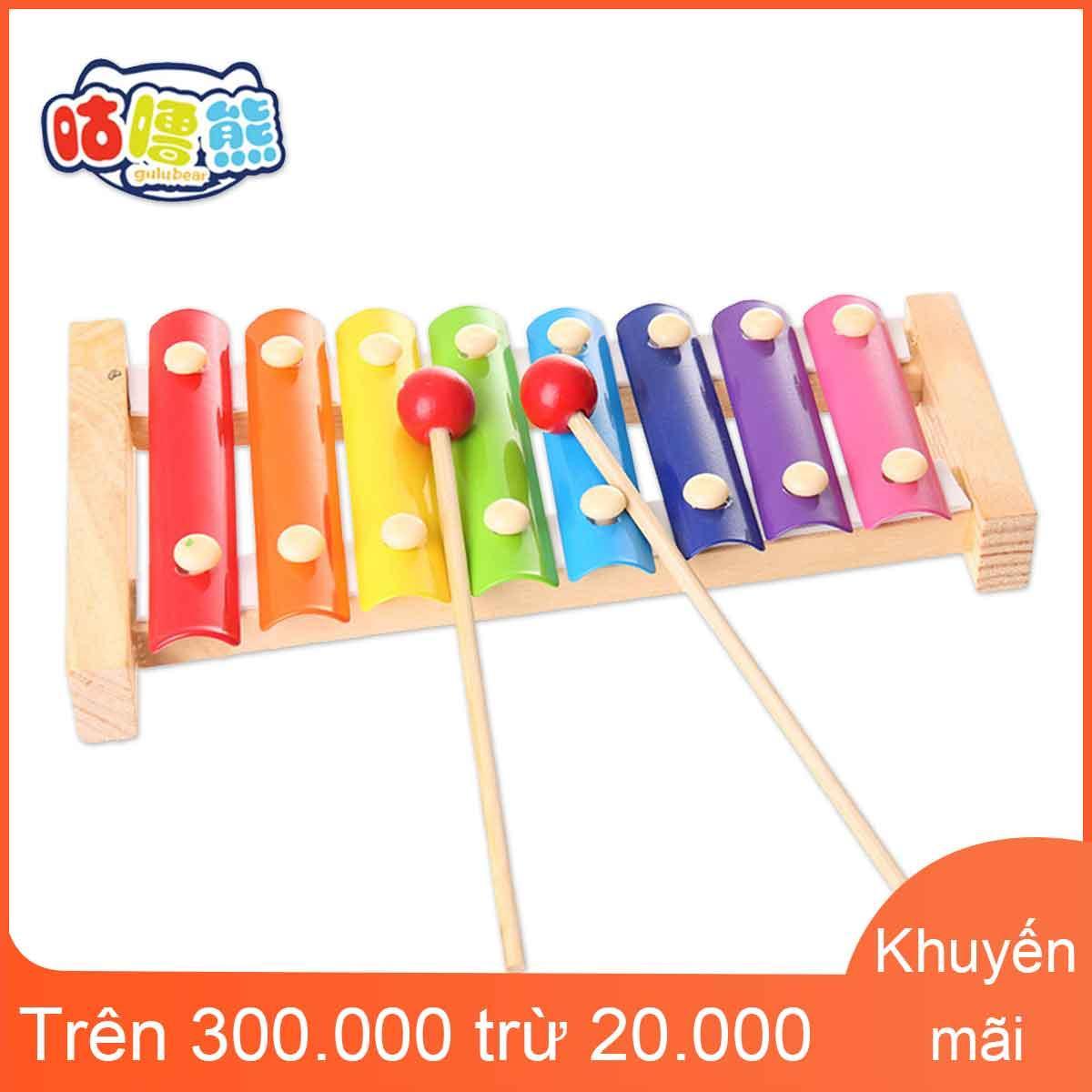Hình ảnh Đàn piano gõ bằng gỗ gấu GURU cho trẻ em