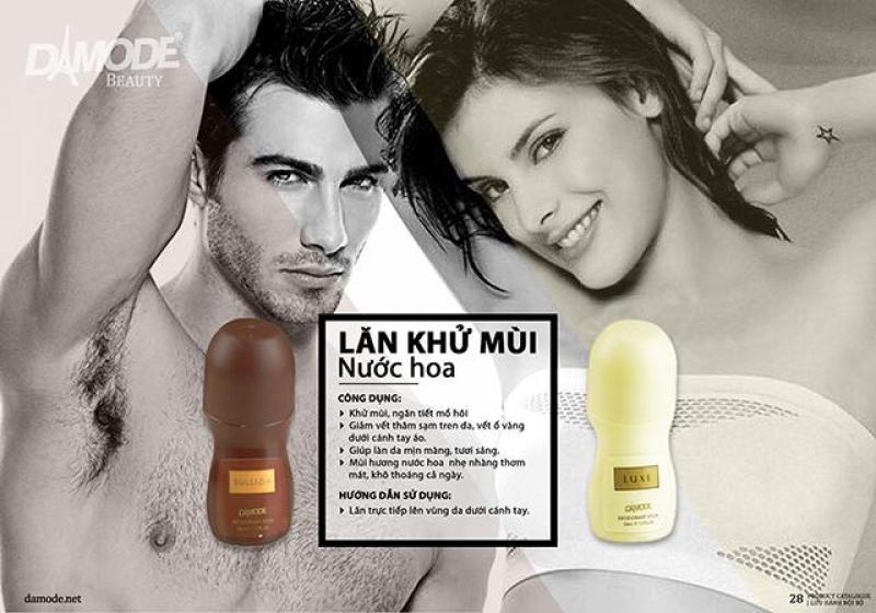 Combo lăn khử mùi hương nước hoa cao cấp độc quyền Damode Bullion 50ml nam Luxe 50ml nữ cao cấp