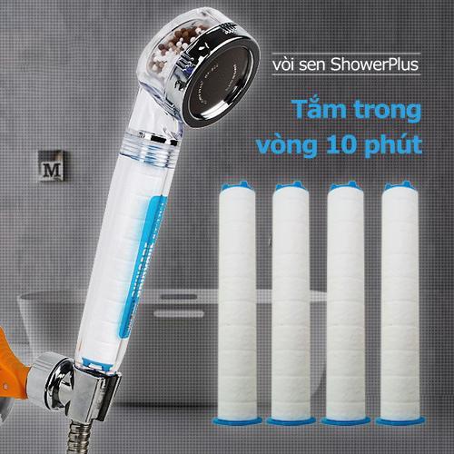SF-300B Đầu vòi sen tắm (tăng áp, lọc nước) + 4 Thanh lọc nước