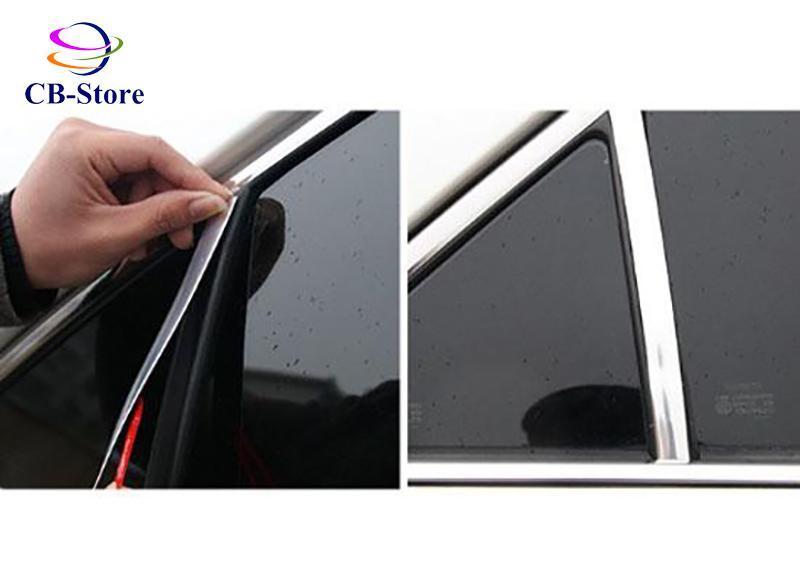 Cuộn nẹp mạ crom trang trí ngoại thất ô tô (15mm dài 12m)