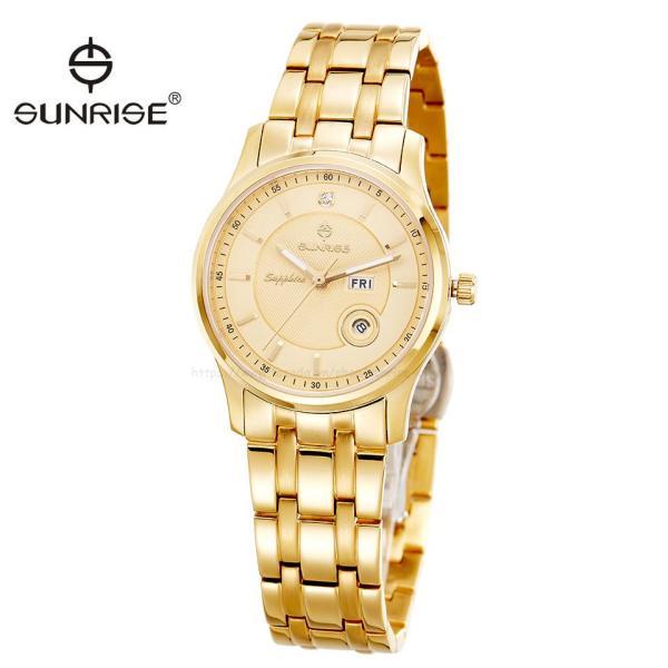 [HCM][Fullbox hãng] Đồng hồ nữ siêu mỏng Sunrise DL782SWA kính Sapphire chống xước chống nước tốt