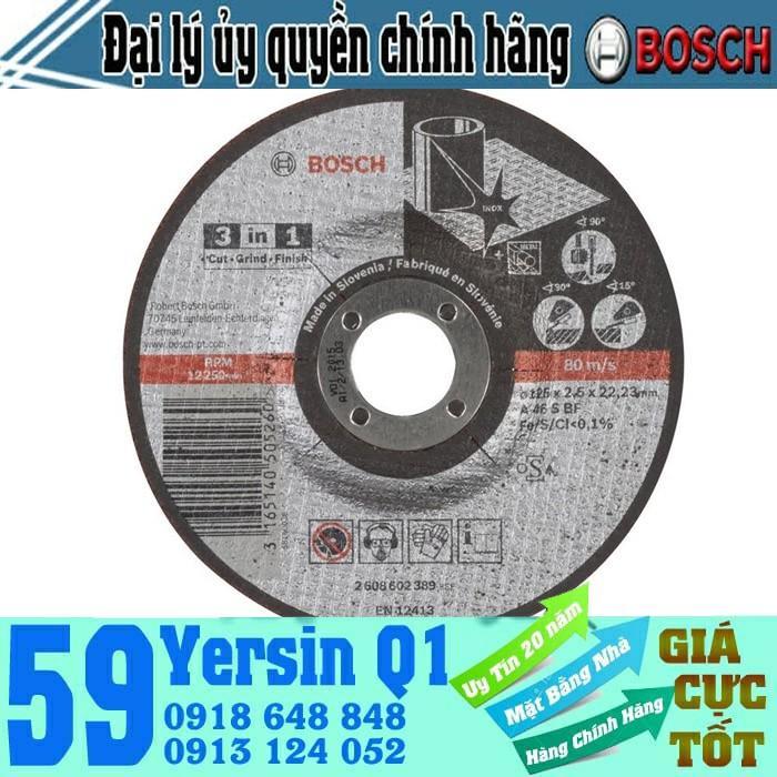 Đá cắt 3 trong 1 Bosch 2608602389 125x22.2x2.5