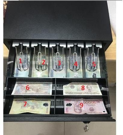 Ngăn kéo đựng tiền bán hàng APOS-1404G (Kết nối máy in bill hoặc bằng khóa)