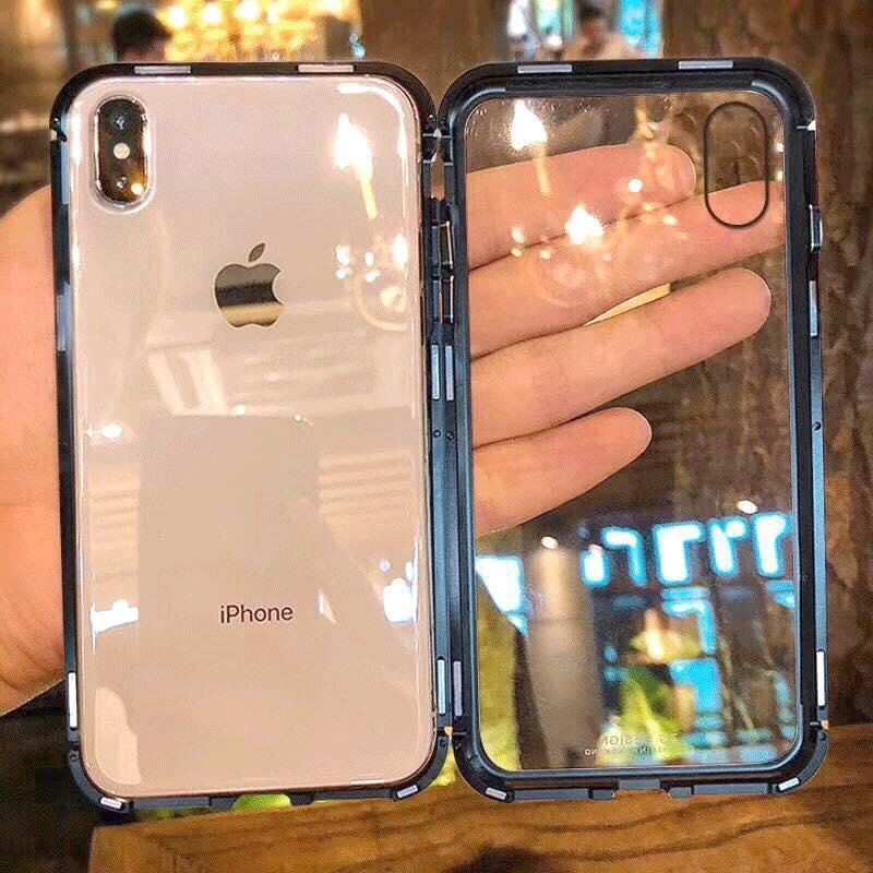 Giá Ốp nam châm viền kim loại hãng likgus IPhone 6/6s 6/6sPlus 7/7plus 8/8plus IpX bảo vệ 360