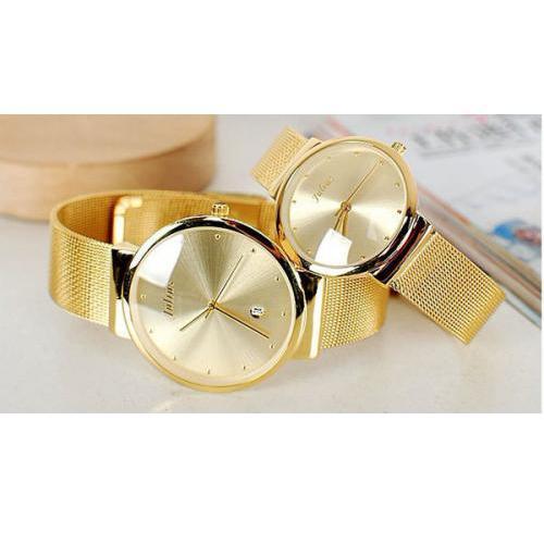 Hình ảnh Đồng hồ cặp Julius JA-426 siêu mỏng (Vàng)
