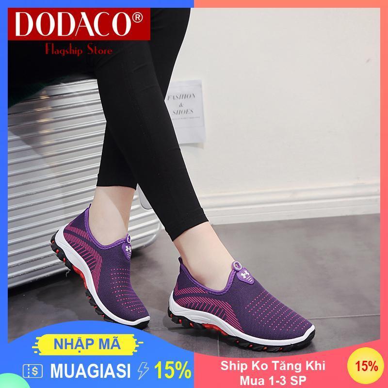 [Ship Ko Tăng Khi Mua 1-3 SP] - Giày lười nữ DODACO DDC2025 (Đen Đỏ Tím Xám)