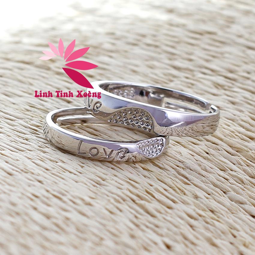 Nhẫn cặp, nhẫn đôi mạ bạc cao cấp tình yêu vĩnh cửu MK239