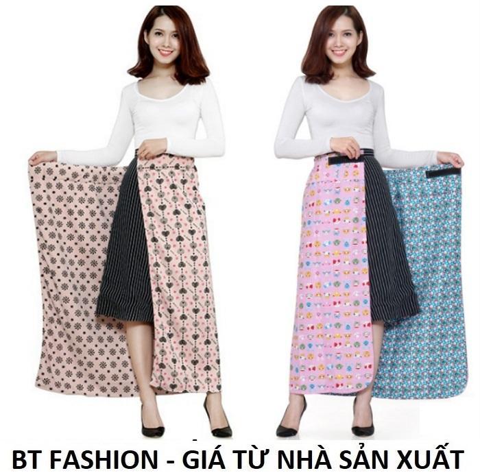 Váy Chống Nắng (Loại Tốt) 2 Lớp + 2 Mặt, Có Túi Tiện Lợi - BT Fashion - Giao màu ngẫu nhiên (PK-VCN01)
