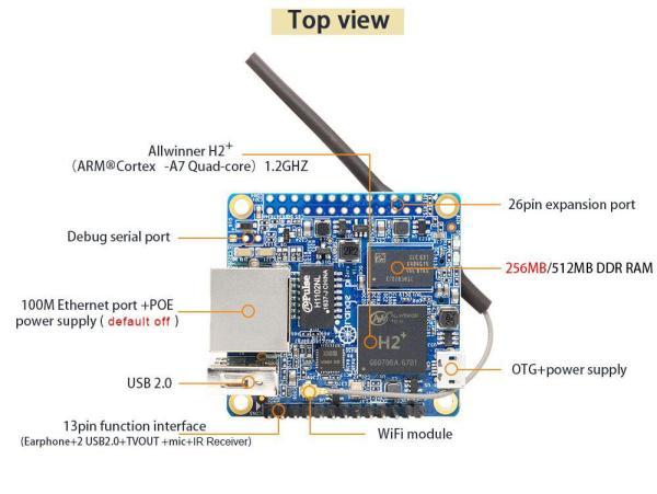 Máy tính nhúng Orange Pi Zero  LTS H2 Quad-core Cortex-A7 512MB RAM