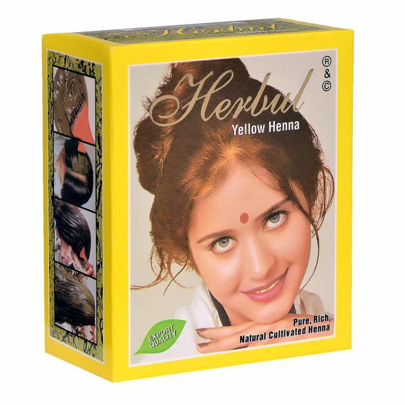 Thuốc nhuộm tóc thảo dược màu vàng Herbul  Yellow Henna cao cấp