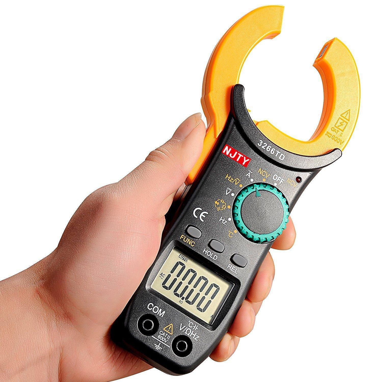Ampe kìm kẹp mét 3266TD bỏ túi, công cụ sửa chữa điện , điện lạnh đo được nhiệt độ.