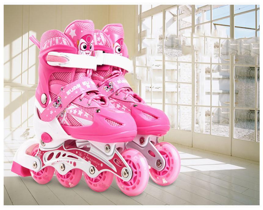 Giá bán Giày trượt Patin trẻ em, Giày Patin Trẻ Em Chống Trẹo Chân  tặng mũ và đồ bảo hộ (5 đến 14 tuổi) giày trắc trắn có đủ 2 mầu xanh,đỏ.Bảo hành uy tín 1 đổi 1.