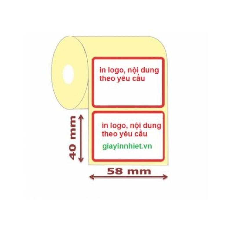 5 cuộn tem cân điện tử 58x40mm