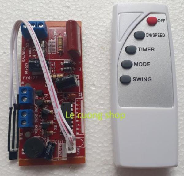 Bộ mạch và điều khiển từ xa dành cho quạt bàn, quạt treo tường, quạt cây...biến quạt thường thành quạt điều khiển từ xa, mạch quạt điều khiển từ xa, mạch điều khiển từ xa cho quạt, quạt điều khiển từ xa