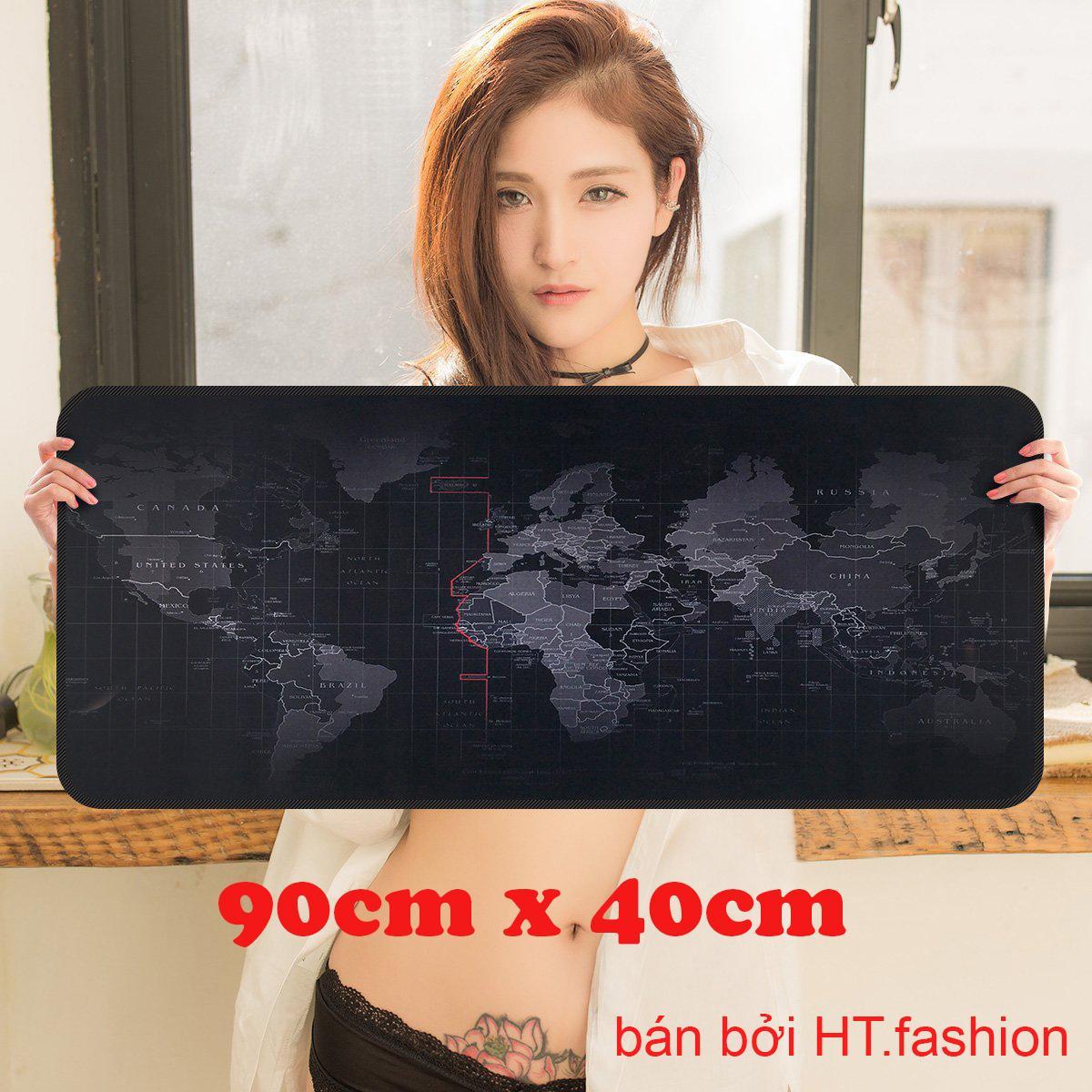 Ht.fashion - Bàn Di Chuột Bản đồ (pad Bản đồ) Khổ Lớn 90 X 40cm By Ht.fashion.