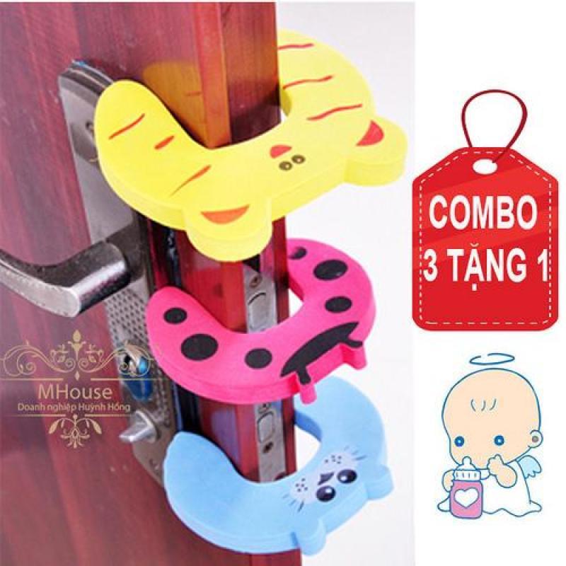 Bảng giá Combo 3 Tặng 1. Chặn cửa ngăn kẹp tay, giảm ồn, an toàn cho bé.
