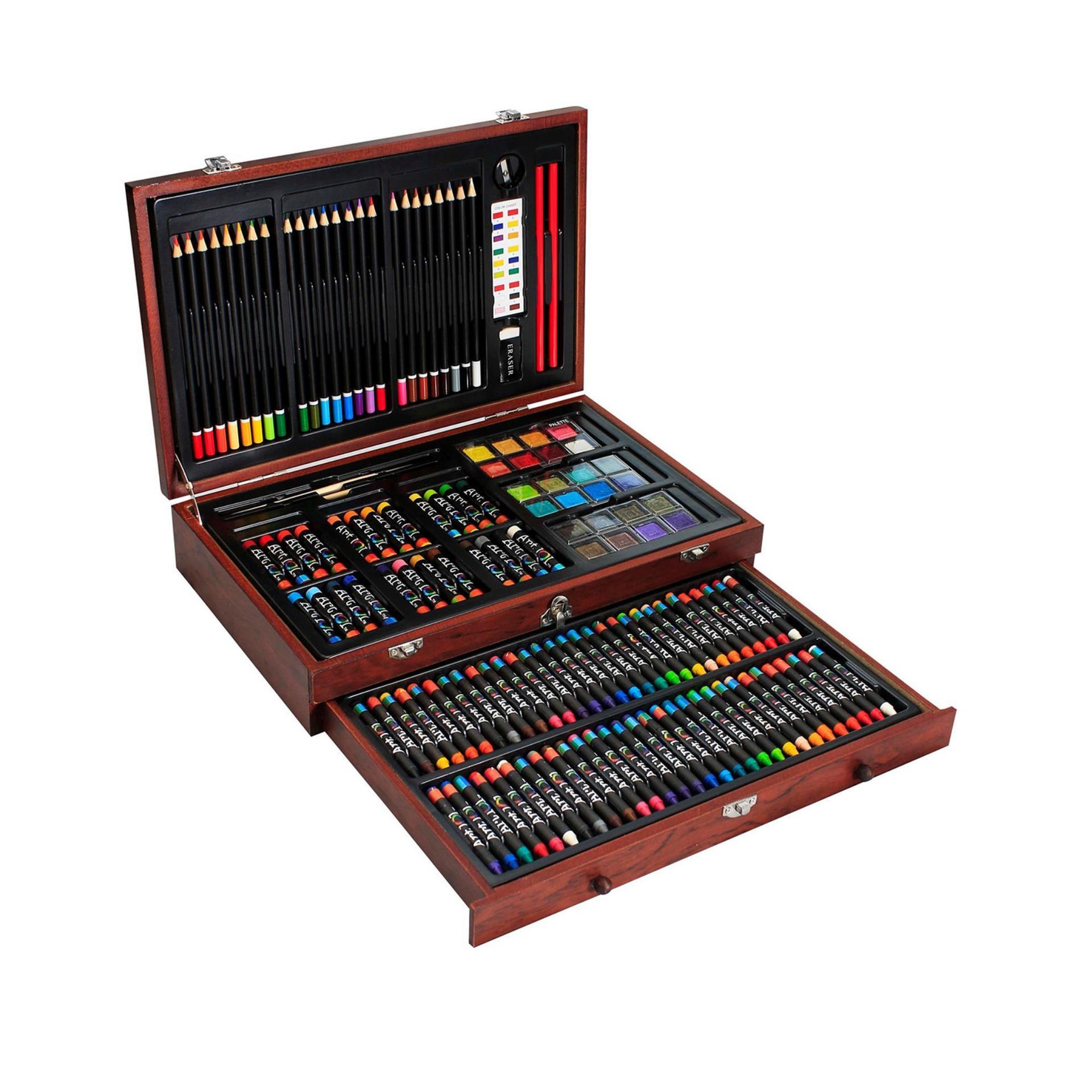 Hình ảnh Bộ Màu Vẽ Cao Cấp Hộp Gỗ Colormate MS-142W
